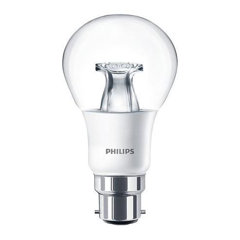 PH LED GLS BC 6W=40W 827 CLR DT 25K DIMMABLE DIMTONE CLEAR