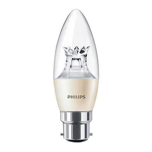 PH LED CANDLE BC 4W=25W 827 CLR DT 15K DIMMABLE DIMTONE CLEAR