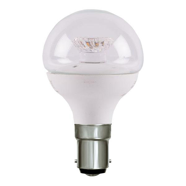 BL LED BALL SBC 4W=25W 827 CLR D 25K DIMMABLE