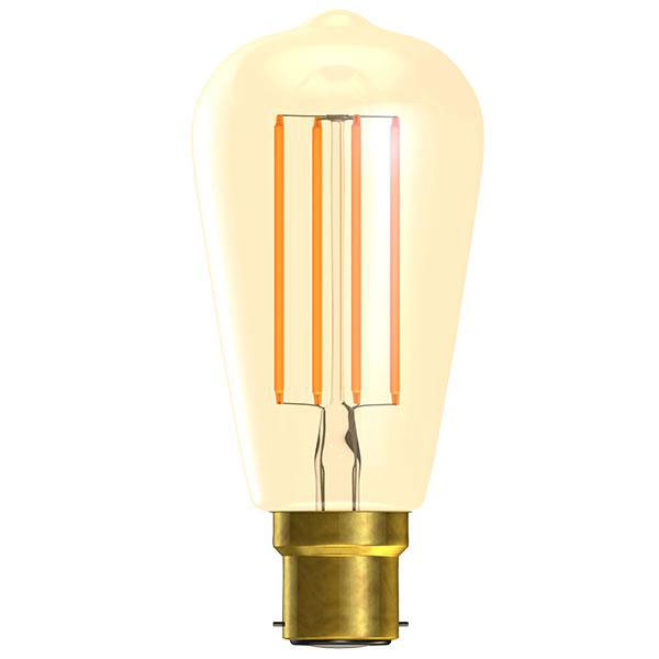 BL LED RUSTIKA BC 4W=25W GOLD D VINTAGE 15K DIMMABLE FILAMENT