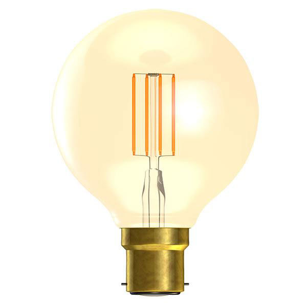 BL LED GLOBE BC 4W=25W GOLD D VINTAGE 80MM 15K DIMMABLE FILAMENT