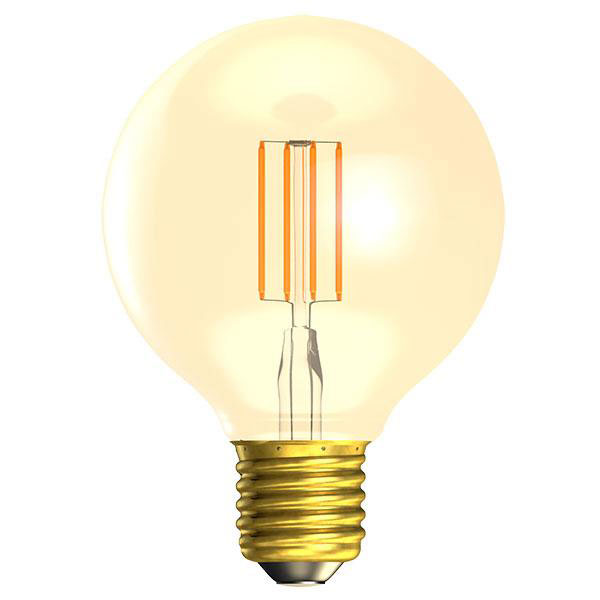 BL LED GLOBE ES 4W=25W GOLD D VINTAGE 80MM 15K DIMMABLE FILAMENT