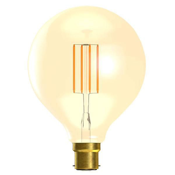 BL LED GLOBE BC 4W=25W GOLD VINTAGE 125MM 15K DIMMABLE FILAMENT