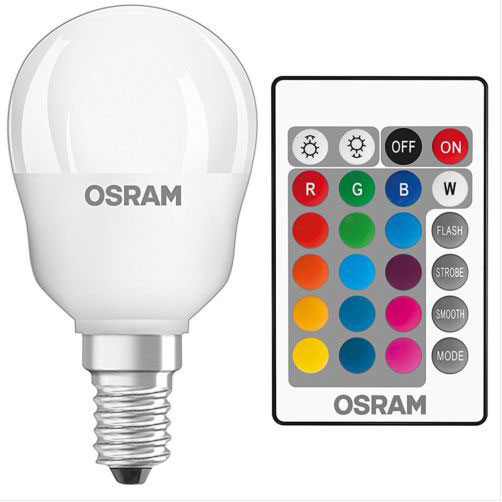 LV LED BALL SES 4.5W RGBW COLOUR CHANGE WITH REMOTE CONTROL