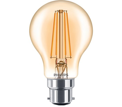 PH LED GLS BC 7.5W=48W GOLD D 15K FILAMENT DIMMABLE