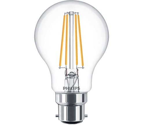 PH LED GLS BC 7W 827 CLR FIL D 15K DIMMABLE FILAMENT CLEAR
