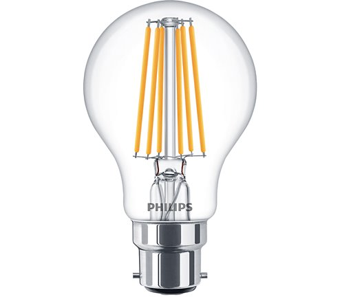 PH LED GLS BC 8W=60W CLR DT 15K FILAMENT DIMMABLE DIMTONE
