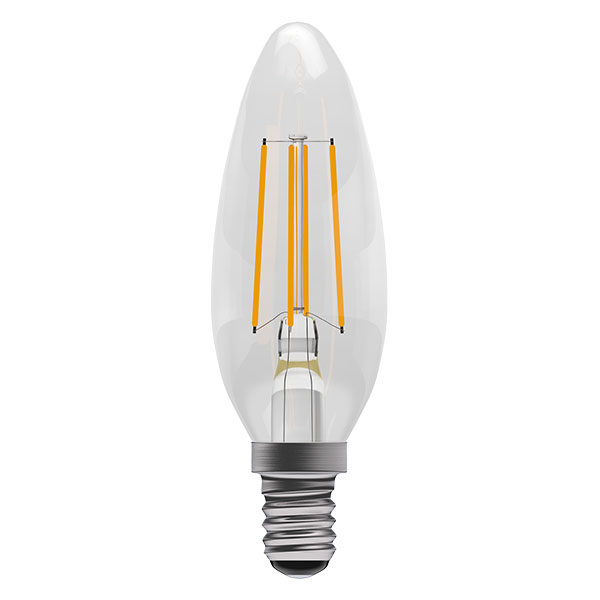 BL LED CANDLE SES 4W=40W CLR ND 15K FIL FILAMENT NON DIMMABLE