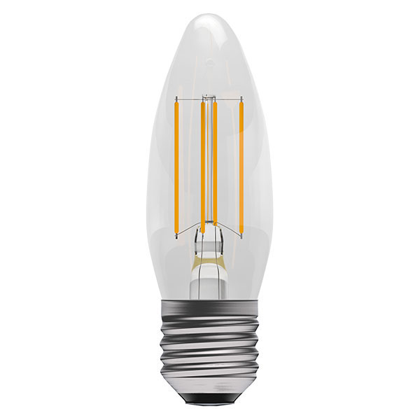 BL LED CANDLE ES 4W=40W CLR D 15K FIL FILAMENT DIMMABLE