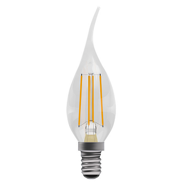 BL LED CANDLE SES 4W=40W CLR D 15K B/TIP FILAMENT DIMMABLE BENT TIP