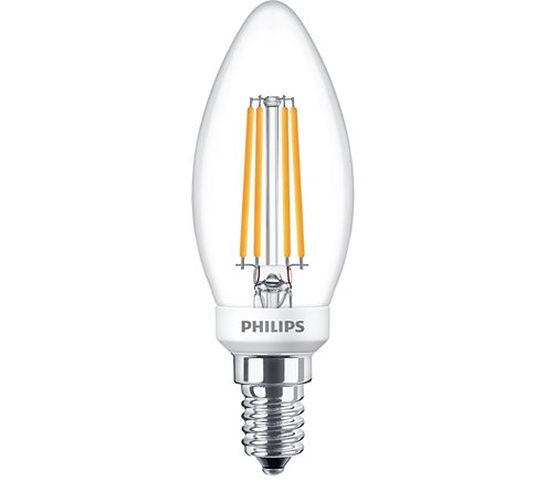 PH LED CANDLE SES 5W=40W CLR D 15K FIL FILAMENT DIMMABLE
