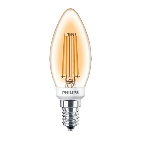 PH LED CANDLE SES 5W=40W GOLD D 15K FIL FILAMENT DIMMABLE
