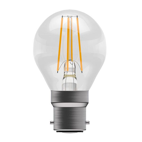 BL LED BALL BC 4W 827 CLR FIL ND 15K NON DIMMING FILAMENT CLEAR