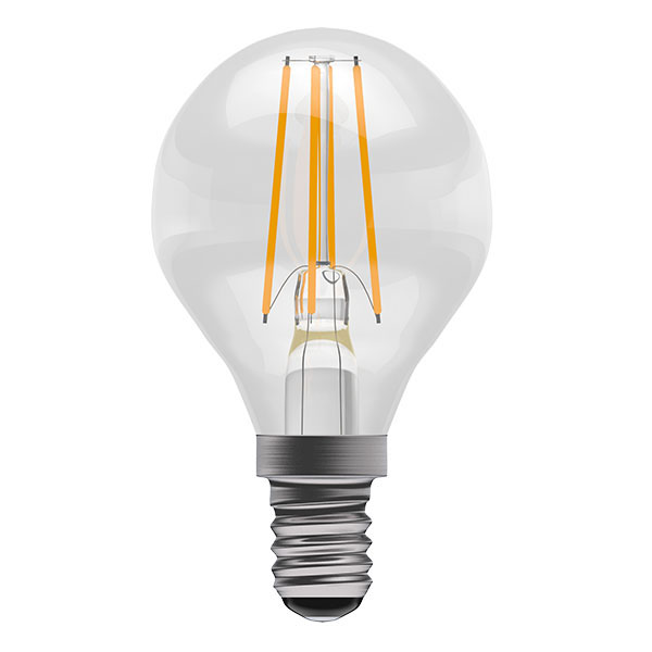 BL LED BALL SES 4W=40W CLR ND 15K FIL FILAMENT NON DIMMABLE