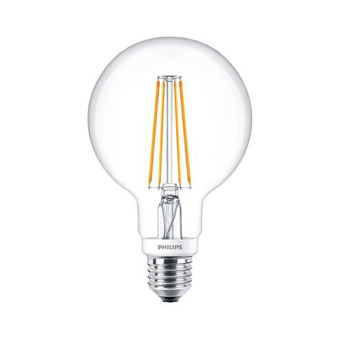 PH LED GLOBE 95MM ES 7.2 827 CLR FIL D 15K DIMMABLE FILAMENT CLEAR
