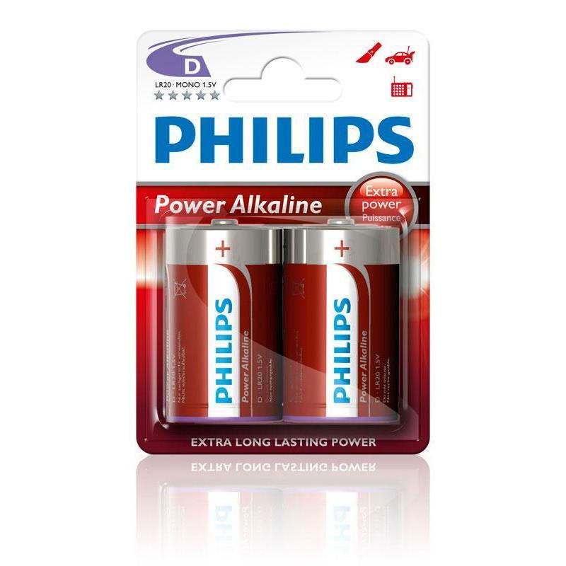 BATTERY LR20-D (2 PACK) POWERLIFE ALKALINE
