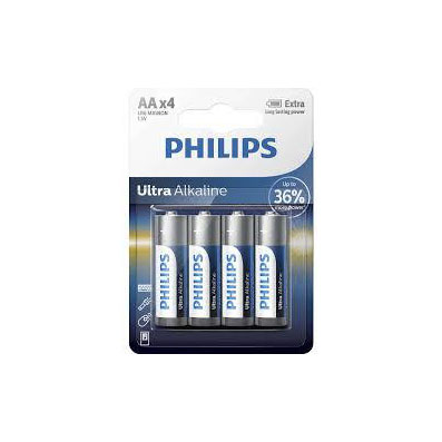 BATTERY LR6 AA (4 PACK) ULTRA ALKALINE EXTREME LIFE