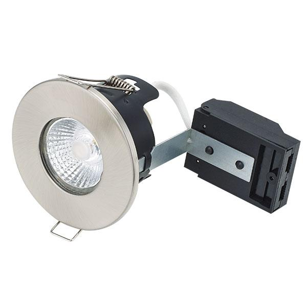 BL DOWNLIGHT FIRESTAY FIRE RATED WHITE FITTING FIXED GU10 LAMPHOLDER