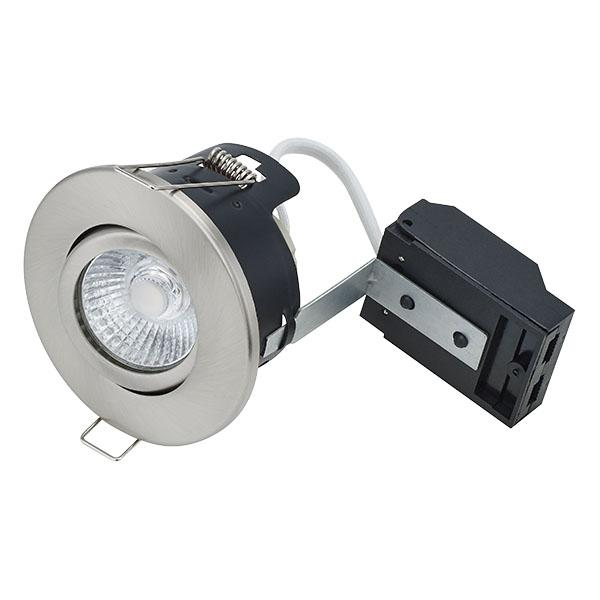 BL DOWNLIGHT FIRESTAY FIRE RATED S NICKEL FITTING CENTRE TILT GU10 LAMPHOLDER