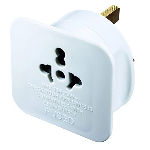 PLUG UK TRAVEL ADAPTER FLAT STYLE