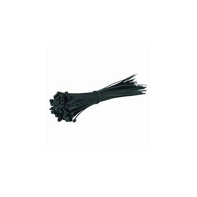 CABLE TIES 190MM X 4.8MM BLACK (100 PACK)