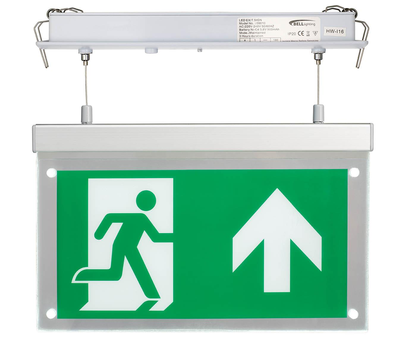 LED EMERGENCY EXIT BLADE 2.5W R M/NM RECESSED MOUNT MAINT/NON MAINTAINED
