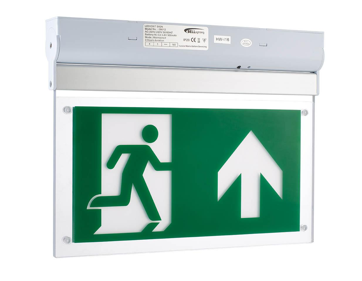 LED EMERGENCY EXIT BLADE 2.5W SM M/NM SURFACE MOUNT MAINT/NON MAINTAINED