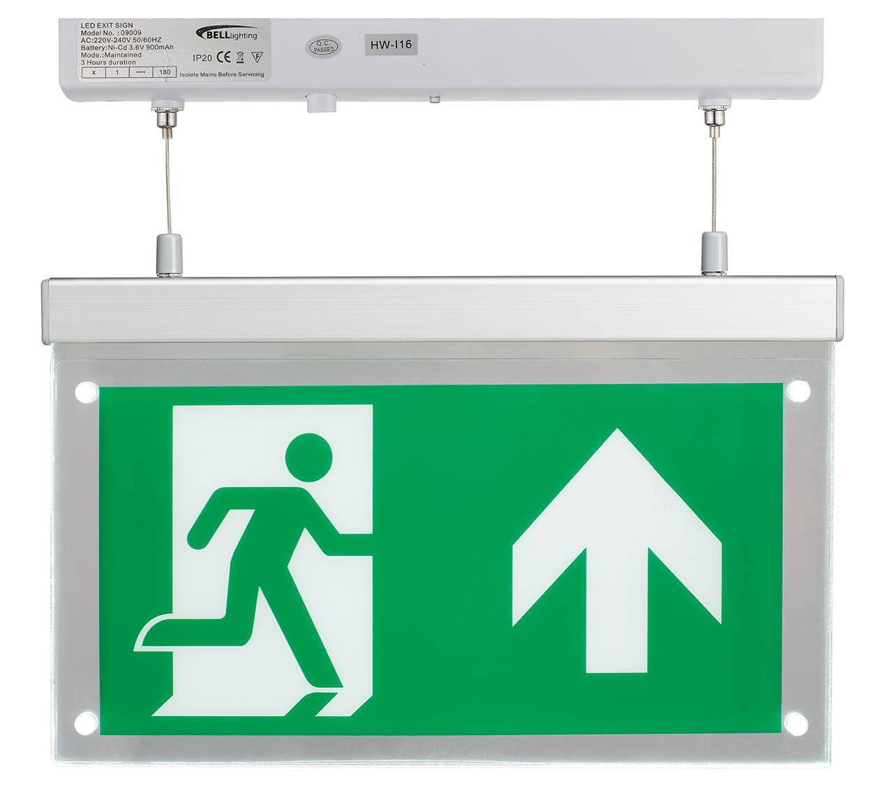 LED EMERGENCY EXIT BLADE 2.5W S M/NM SUSPENDED MOUNT MAINT/NON MAINTAINED