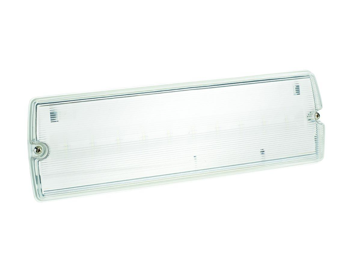 LED EMERGENCY BULKHEAD 3.3W M/NM IP65 MAINT/NON MAINTAINED