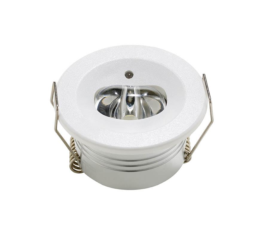 LED EMERGENCY DOWNLIGHT 3W CORRIDOR NM RECESSED ROUND CORRIDOR NON MAINTAINED