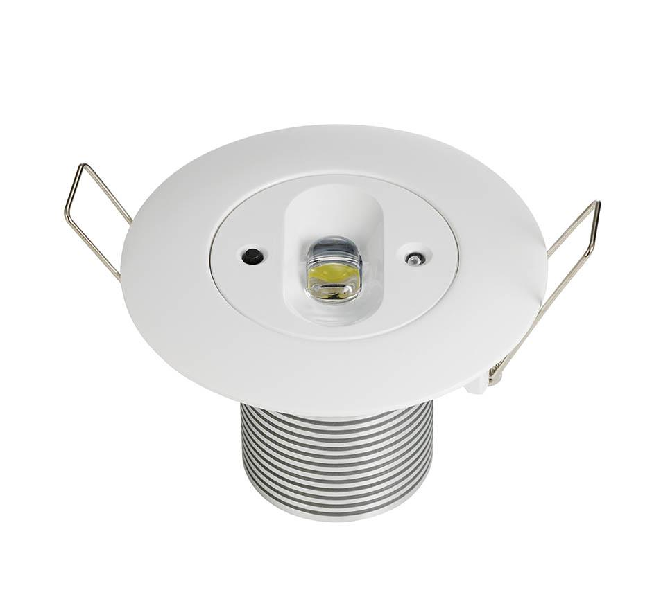 LED EMERGENCY DOWNLIGHT 5W CORRIDOR NM ST RECESSED ROUND CORRIDOR SELF TEST N/MAIN