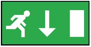 LEGEND DOWN ARROW FOR EXIT BULKHEAD EUROPEAN STANDARD