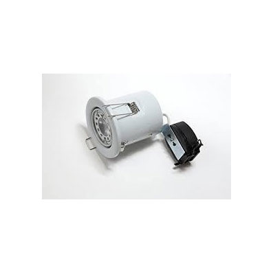 P DOWNLIGHT FIRE RATED IP20 C/W 5W GU10 WH 20K ADJUSTABLE WHITE